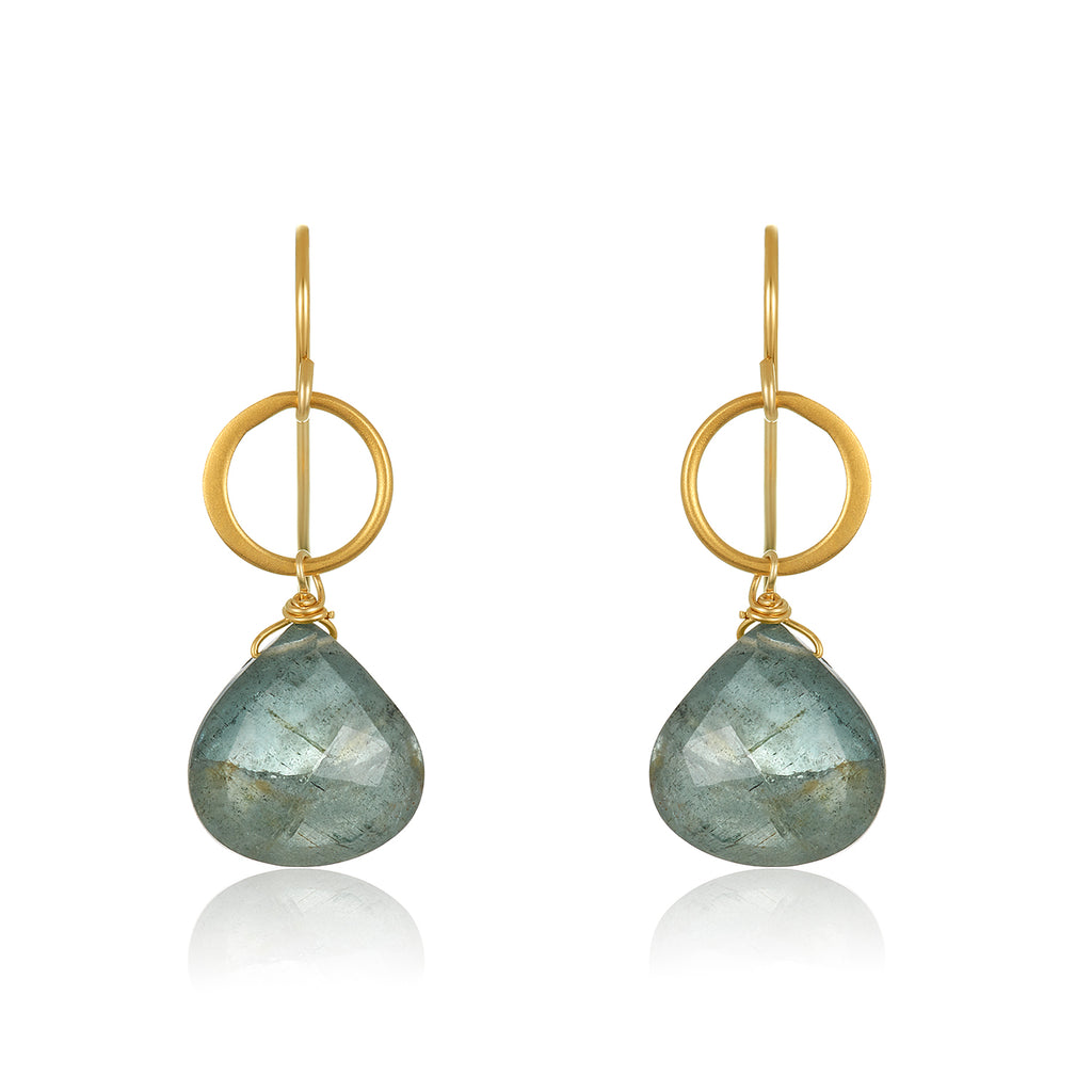 Blue Moon Aquamarine Earrings