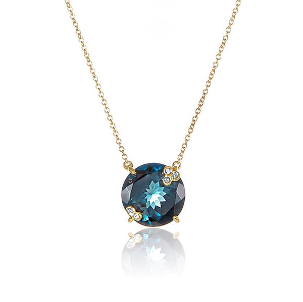 Amelie Necklace - London Blue Topaz