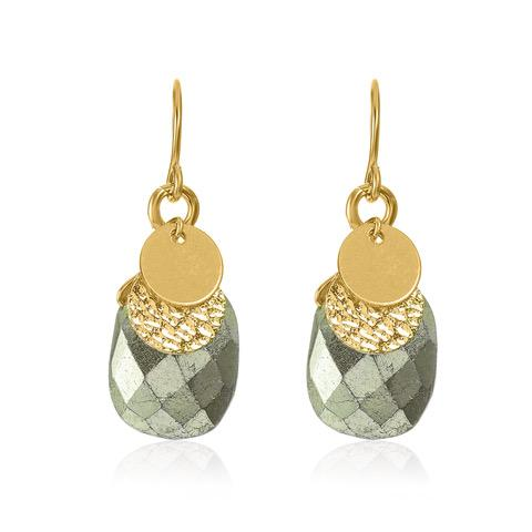 Golden Age Earrings - Pyrite
