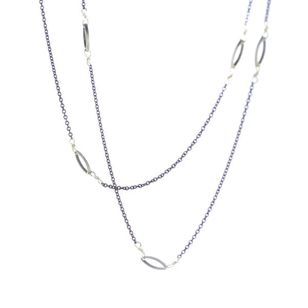 Jennifer Marquis Necklace - Silver/Oxidized Silver