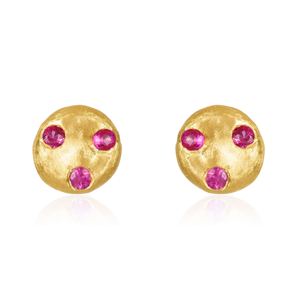 Oro Ruby Earrings
