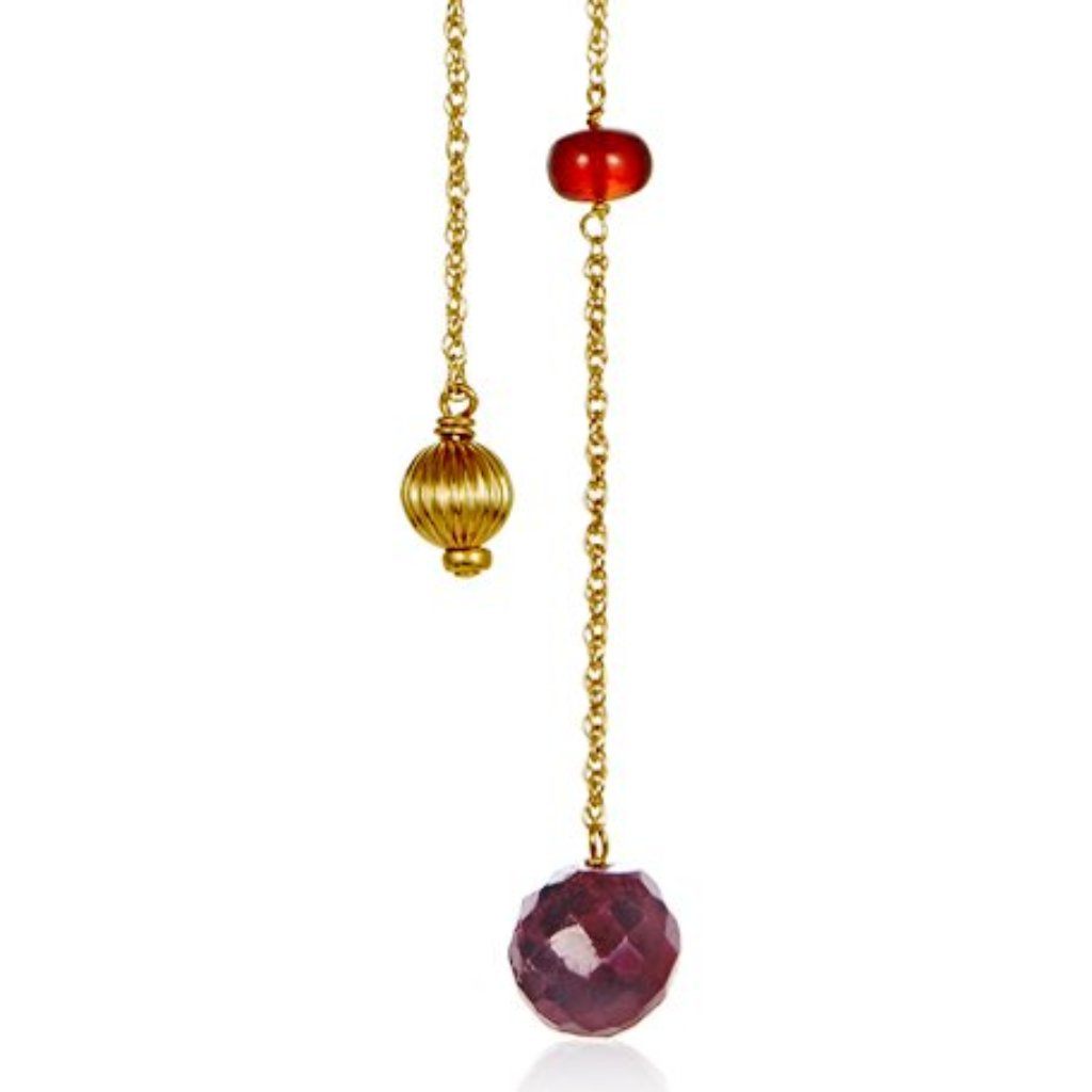Ruby With Garnet Necklace