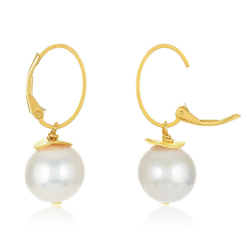 Sunday Morning Earrings in Fresh Water Pearls