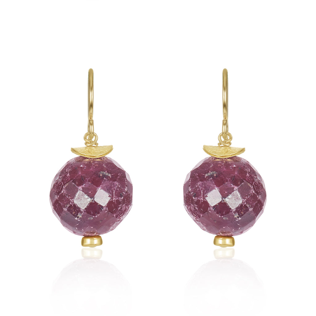 Jump In Raw Ruby Earrings