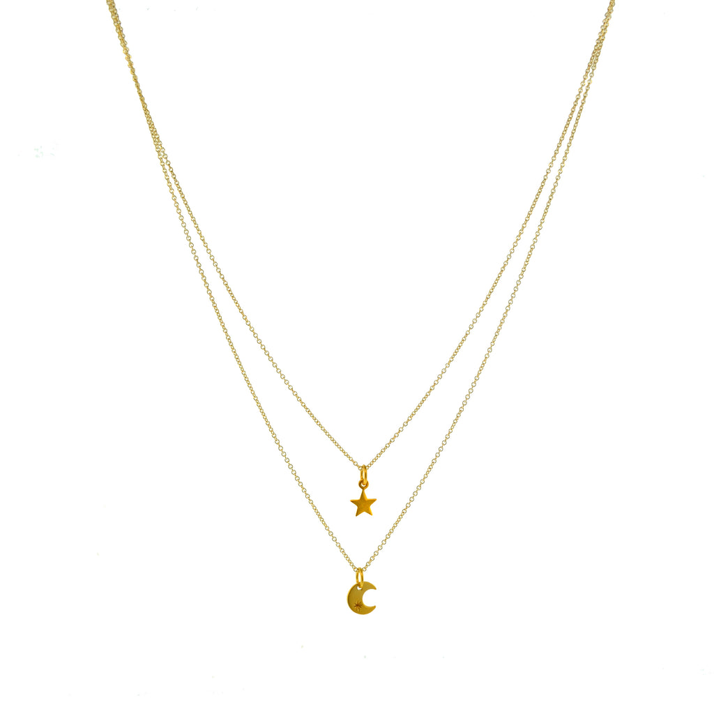 Night Sky Necklace-Gold