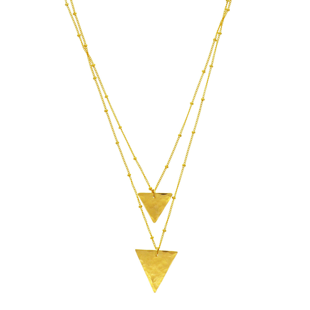 Two In One Necklace in Triangle