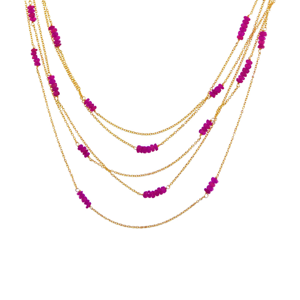 Multi Strand Necklace II-14k gold