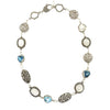 Mixed Topaz and Moonstone Necklace