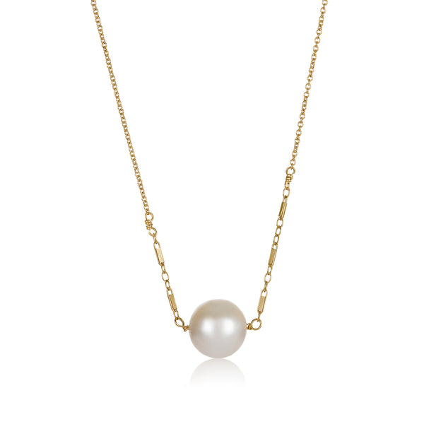 Horizontal Pearl Necklace