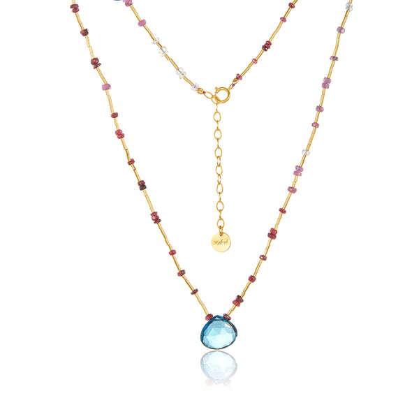 London Blue Liquid Gold-filled Necklace