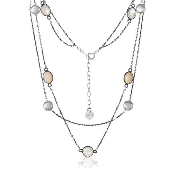 Mixed Moonstone Eclipse necklace