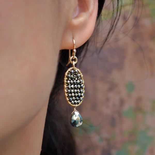 Grenada Earrings - Pyrite