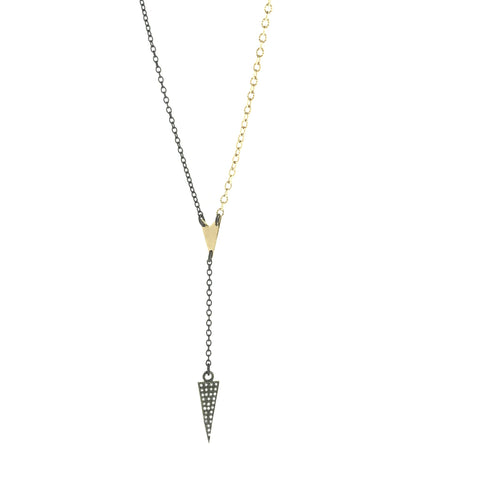 Diamond Spike on Faux-Lariat