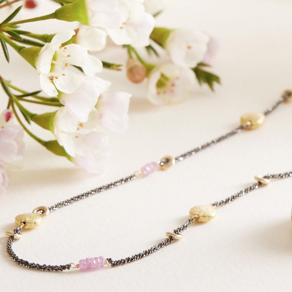 Eclipse Long Necklace (Ruby)