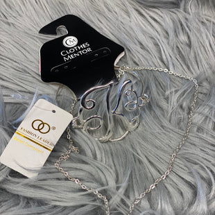 Primary Photo - BRAND:  CMF STYLE: NECKLACE SET COLOR: SILVER SIZE: 02 PIECE SET OTHER INFO: FASHION LEADER K INITIAL - SKU: 198-19812-11921