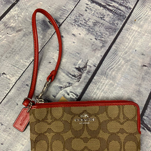 Primary Photo - BRAND: COACH STYLE: WRISTLET COLOR: TAN OTHER INFO: TAN AND RED SKU: 198-19812-10365