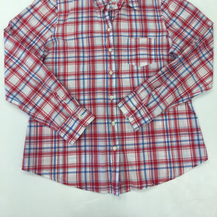 Primary Photo - BRAND: GAP STYLE: TOP LONG SLEEVE COLOR: RED BLUE SIZE: L SKU: 198-19812-16898