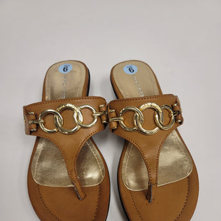 Primary Photo - BRAND: MARC FISHER STYLE: SANDALS FLAT COLOR: BROWN SIZE: 6 SKU: 198-19888-31004