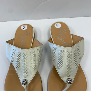 Primary Photo - BRAND: BRIGHTON STYLE: SANDALS FLAT COLOR: WHITE SIZE: 7 SKU: 198-19888-30359