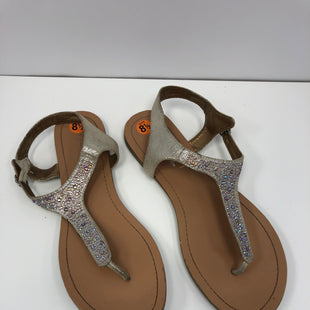 Primary Photo - BRAND: BCBGENERATION STYLE: SANDALS FLAT COLOR: SPARKLES SIZE: 8.5 SKU: 198-19812-16589