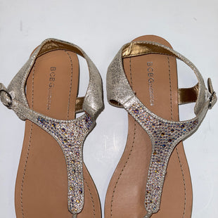 Primary Photo - BRAND: BCBG STYLE: SANDALS FLAT COLOR: METALLIC SIZE: 9.5 OTHER INFO: NEW! SKU: 198-19888-30893