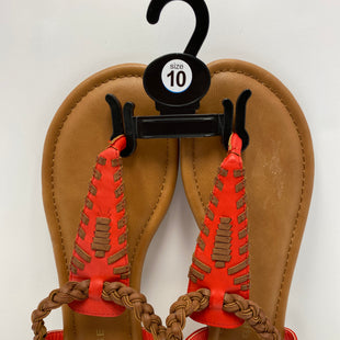 Primary Photo - BRAND: RAMPAGE STYLE: SANDALS FLAT COLOR: RED SIZE: 10 OTHER INFO: NEW! SKU: 198-19888-28812