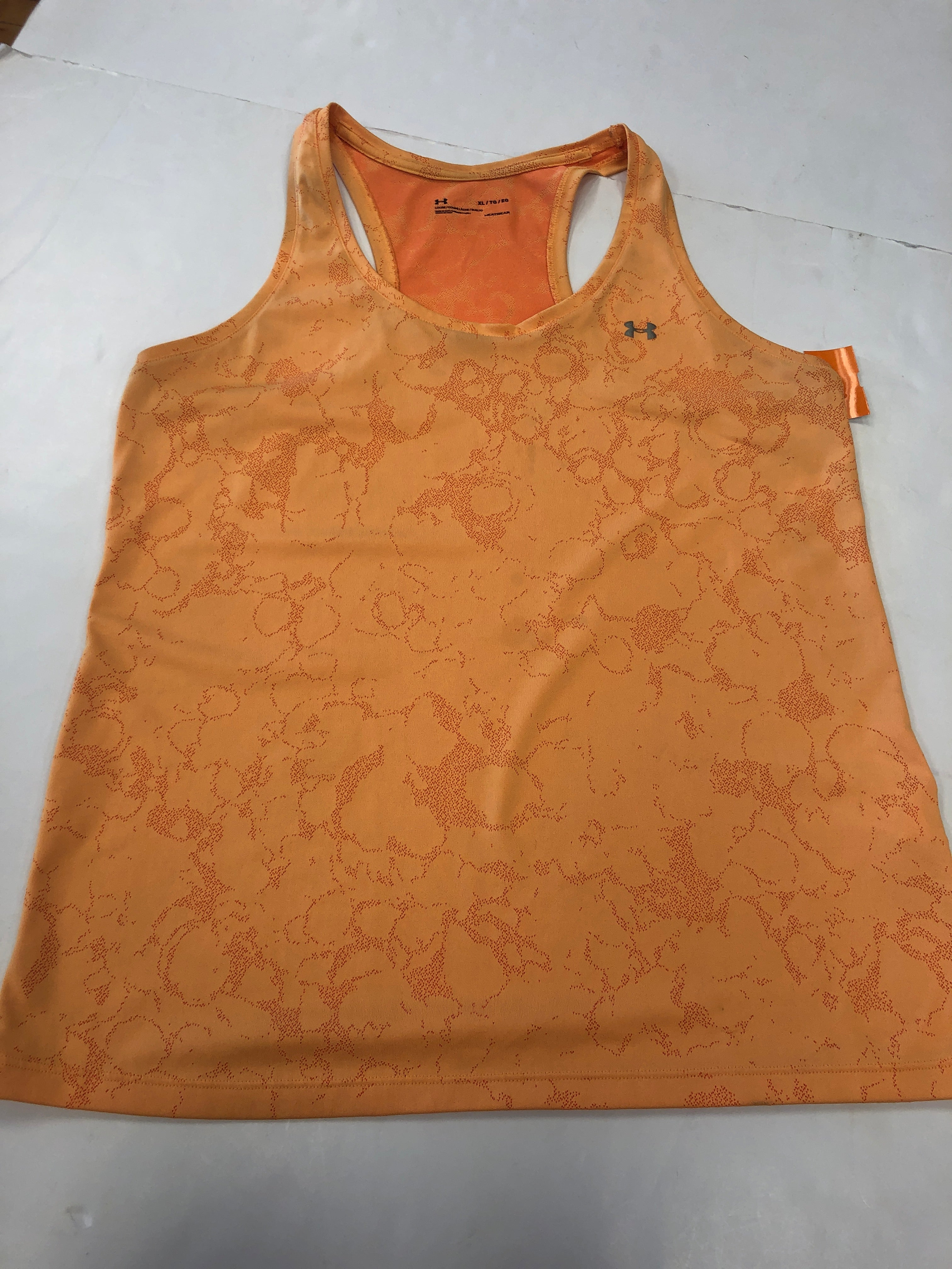 Primary Photo - BRAND: UNDER ARMOUR <BR>STYLE: ATHLETIC TANK TOP <BR>COLOR: ORANGE <BR>SIZE: XL <BR>SKU: 198-19888-32212