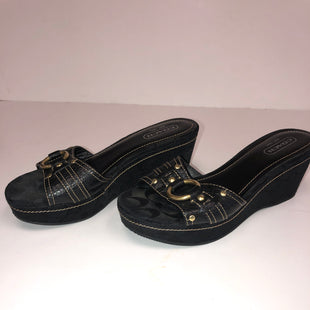 Primary Photo - BRAND: COACH STYLE: SANDALS LOW COLOR: BLACK SIZE: 8.5 SKU: 198-19888-28456