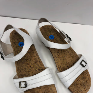 Primary Photo - BRAND:    ABEOSTYLE: SANDALS FLAT COLOR: WHITE SIZE: 11 OTHER INFO: ABEO - COMPARE $89 NEW! SKU: 198-19888-32741