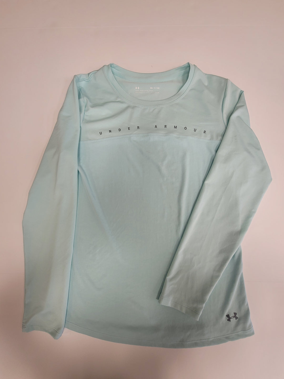 Primary Photo - BRAND: UNDER ARMOUR <BR>STYLE: ATHLETIC TOP <BR>COLOR: MINT <BR>SIZE: S <BR>SKU: 198-19888-31791