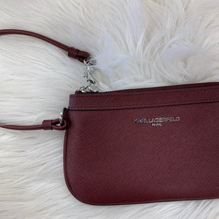 Primary Photo - BRAND: KARL LAGERFELD STYLE: WRISTLET COLOR: BURGUNDY SKU: 198-19888-23048
