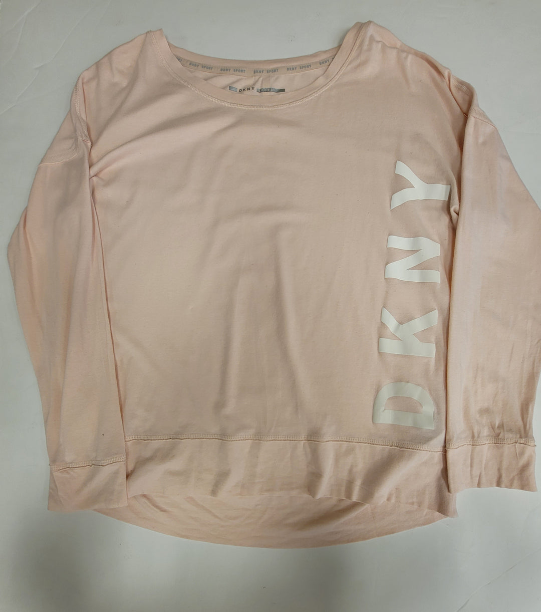 Primary Photo - BRAND: DKNY <BR>STYLE: ATHLETIC TOP <BR>COLOR: LIGHT PINK <BR>SIZE: L <BR>SKU: 198-19888-33299