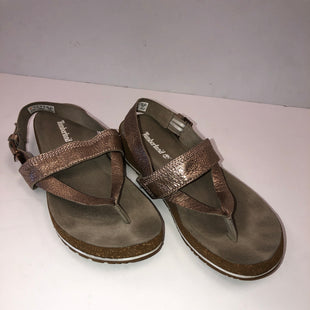 Primary Photo - BRAND: TIMBERLAND STYLE: SANDALS FLAT COLOR: METALLIC SIZE: 9 SKU: 198-19888-29082