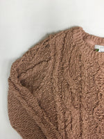 Photo #1 - BRAND: J JILL <BR>STYLE: SWEATER LIGHTWEIGHT <BR>COLOR: BROWN <BR>SIZE: PETITE   XS <BR>SKU: 198-19888-33252