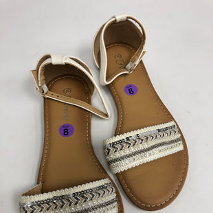 Primary Photo - BRAND:FOREVER STYLE: SANDALS FLAT COLOR: WHITE SIZE: 8 OTHER INFO: NEW! SKU: 198-19888-30690