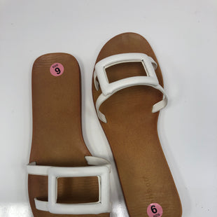 Primary Photo - BRAND: BAMBOO STYLE: SANDALS FLAT COLOR: WHITE SIZE: 9 OTHER INFO: NEW! SKU: 198-19812-16514
