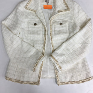 Primary Photo - BRAND: CHICOS STYLE: BLAZER JACKET COLOR: CREAM SIZE: S SKU: 198-19812-16484