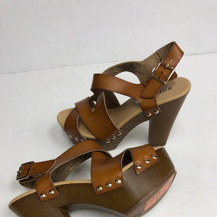 Primary Photo - BRAND: JUST FAB STYLE: SANDALS HIGH COLOR: BROWN SIZE: 7.5 OTHER INFO: NEW! SKU: 198-19888-30965
