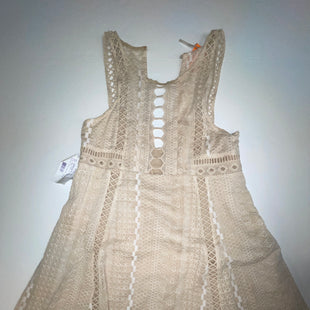 Primary Photo - BRAND: FREE PEOPLE STYLE: DRESS SHORT SLEEVELESS COLOR: BEIGE SIZE: M SKU: 198-19888-32719