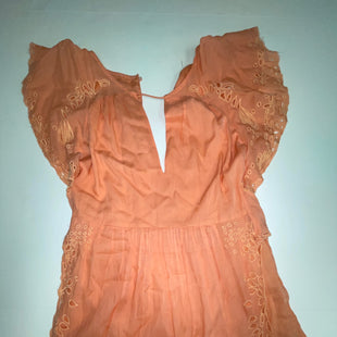 Primary Photo - BRAND: FREE PEOPLE STYLE: ROMPER SHORT SLEEVE COLOR: PEACH SIZE: XS SKU: 198-19888-32729