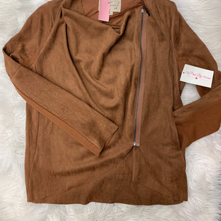 Primary Photo - BRAND:    CLOTHES MENTOR STYLE: BLAZER JACKET COLOR: BROWN SIZE: M OTHER INFO: THEREAL - NEW! SKU: 198-19888-24438