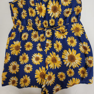 Primary Photo - BRAND: SHEIN STYLE: ROMPER SHORT SLEEVELESS COLOR: BLUE YELLOW SIZE: 3X OTHER INFO: ROMPER SKU: 198-19888-33216