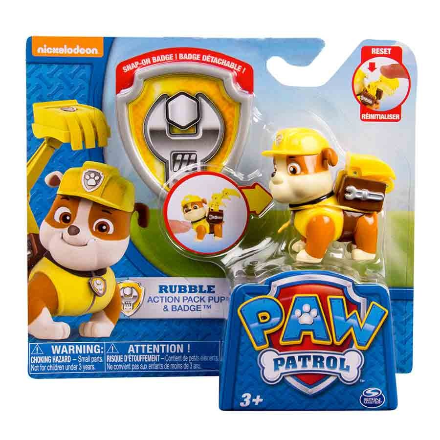 PAW PATROL- Cachorro transformable RUBBLE !