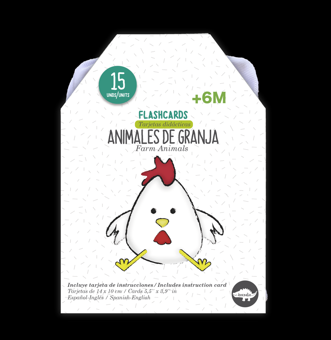 Flash Card Animales De La Granja - Tarjetas Granja