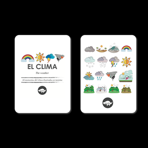 Flash Card Clima - Tarjetas Del Clima