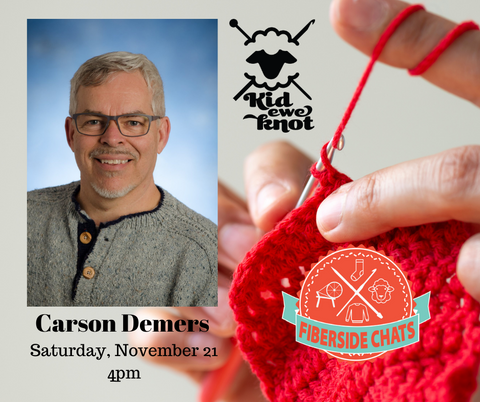 carson demers fiber side chat and hands crocheting