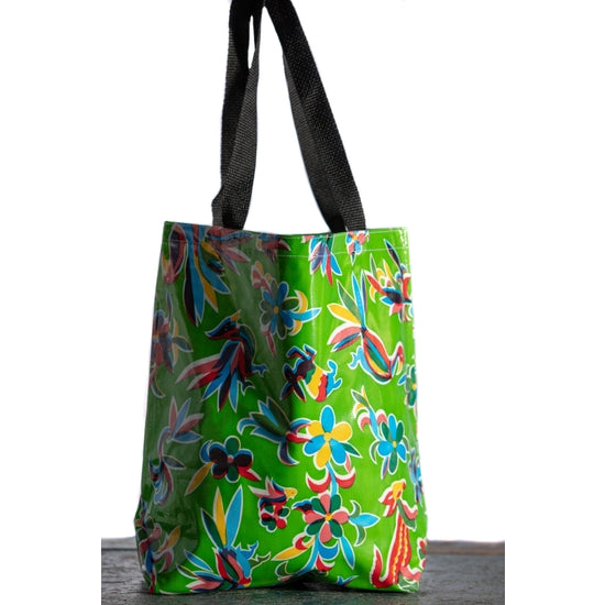Oilcloth Tote Medium Birds