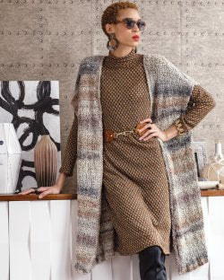 Noro Long Cardigan, Build Your Own!