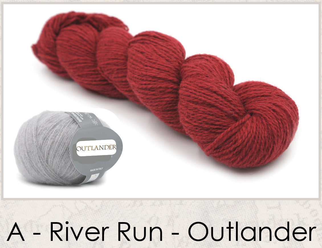 River Run Shawl Outlander Knitting Kit