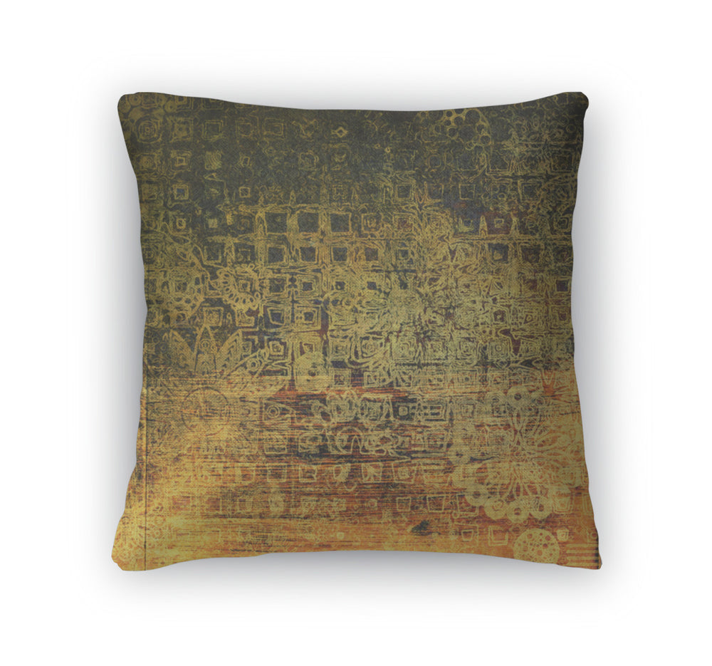 Throw Pillow, Art Colorful Ornament Grunge